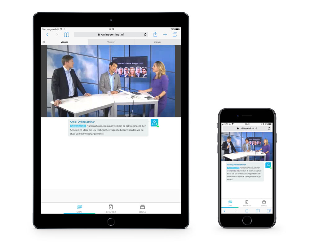 BNP Paribas webinars op iPad en iPhone